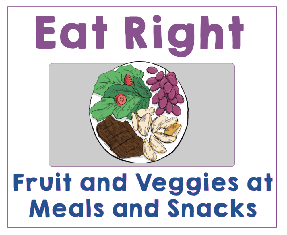 #1 Give Your Kids Fruit and Veggies at Each Meal or Snack. Health Family Habits the Pain-free way. | Get Your Kids Healthy with These Easy- Peasy Habits | Real Healthy Habits | www.realhealthyhabits.com