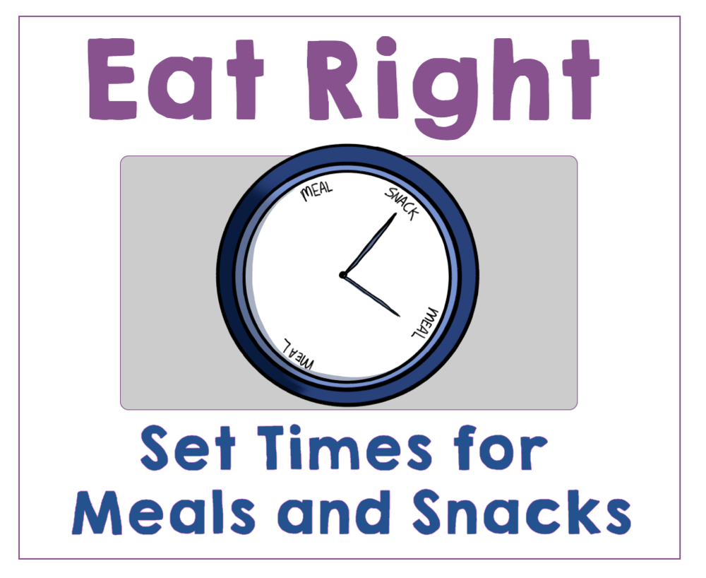 #2 Teach Your Kids to Eat at Set Meal and Snack Times. Health Family Habits the Pain-free way. | Get Your Kids Healthy with These Easy- Peasy Habits | Real Healthy Habits | www.realhealthyhabits.com