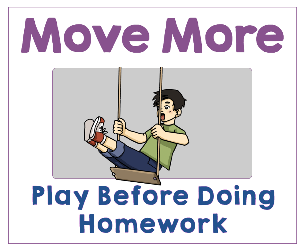 #3 Play Before Doing Homework. Health Family Habits the Pain-free way. | Get Your Kids Healthy with These Easy- Peasy Habits | Real Healthy Habits | www.realhealthyhabits.com