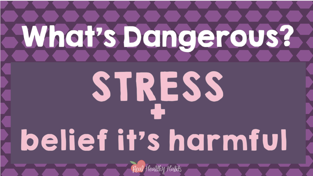 Stress can be helpful or harmful—you choose which one. What's dangerous is stress plus the belief that it's harmful.   How to Make Stress Your Superpower: Stress Paradox #2   www.realhealthyhabits.com