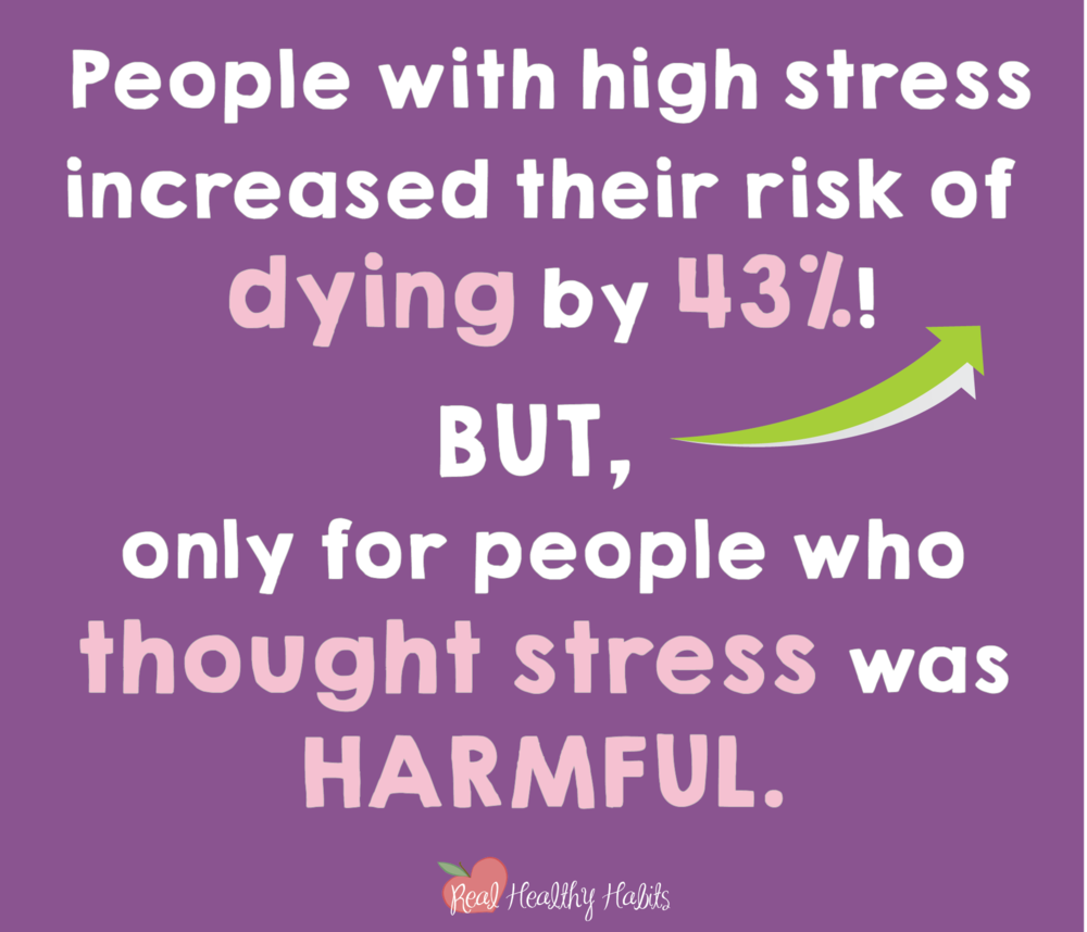 Stress can be helpful or harmful—you choose which one. People who believe stress is harmful are at increased risk of dying, but only if they believe stress is harmful. You can believe it's helpful too.   How to Make Stress Your Superpower: Stress Paradox #2   www.realhealthyhabits.com