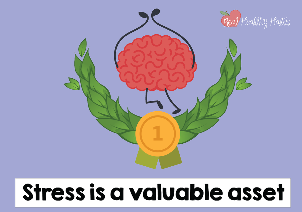 To always get a challenge response to stress, tell your brain that your stress response gives you valuable power and energy. | How to Make Stress Your Superpower: Always Get the Good Kind of Stress | www.realhealthyhabits.com