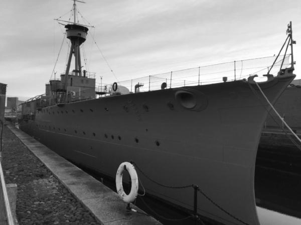 HMS Caroline at Alexandra Dock, Belfast