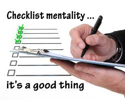 Checklists don't work in our business!