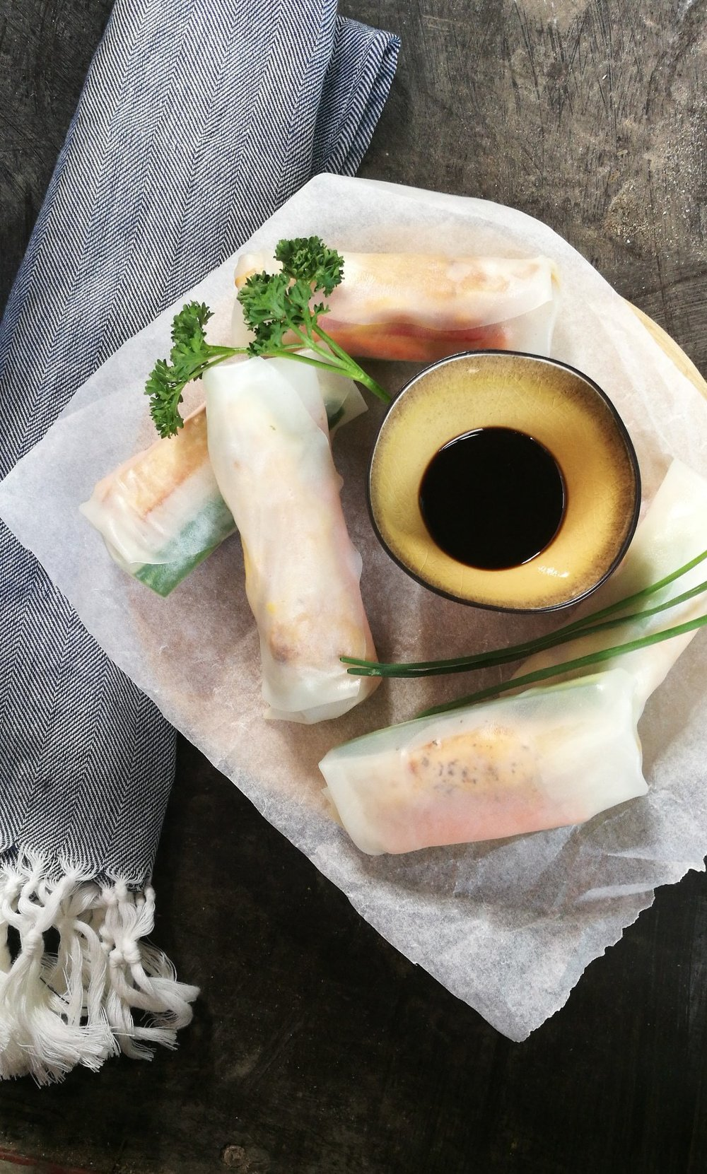 Healthy springrolls with Wonky dip by foodblog 'Mijn Puur Leven'