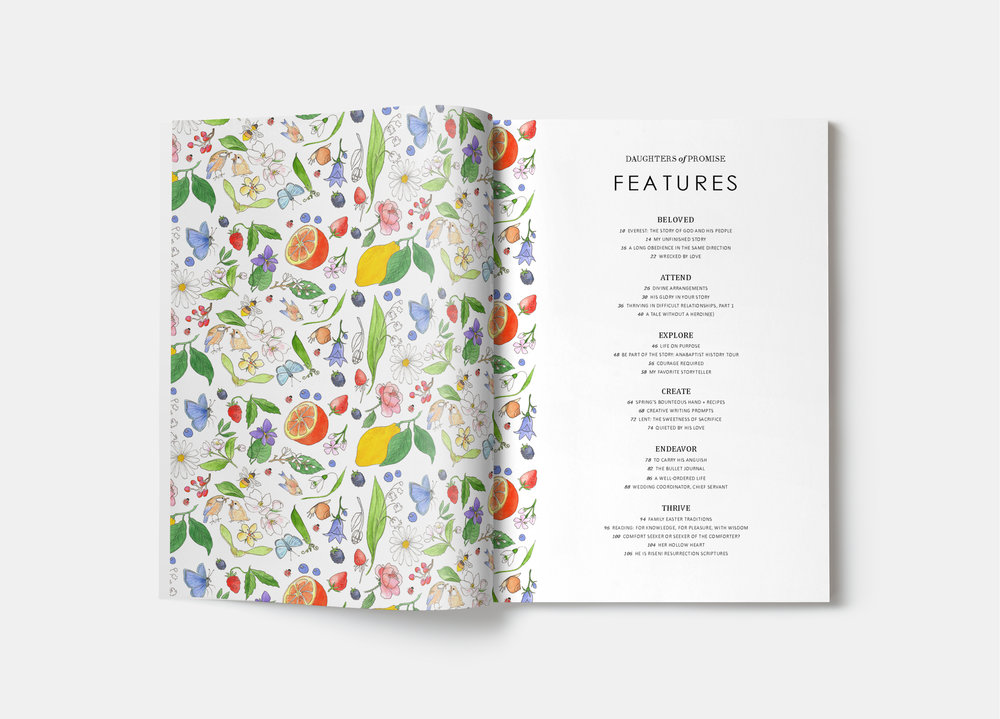 Table of Contents - Story issue