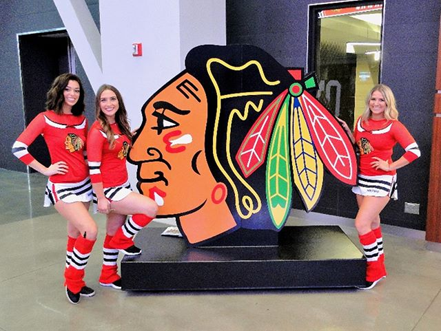 Good luck to our friends from the #WindyCity during their game against the #Nashville Predators tonight! Check out the new giant logo we produced for them earlier this season. #GoBlackhawks #ChicagoBlackhawks #ActivateDetroit @nhlblackhawks