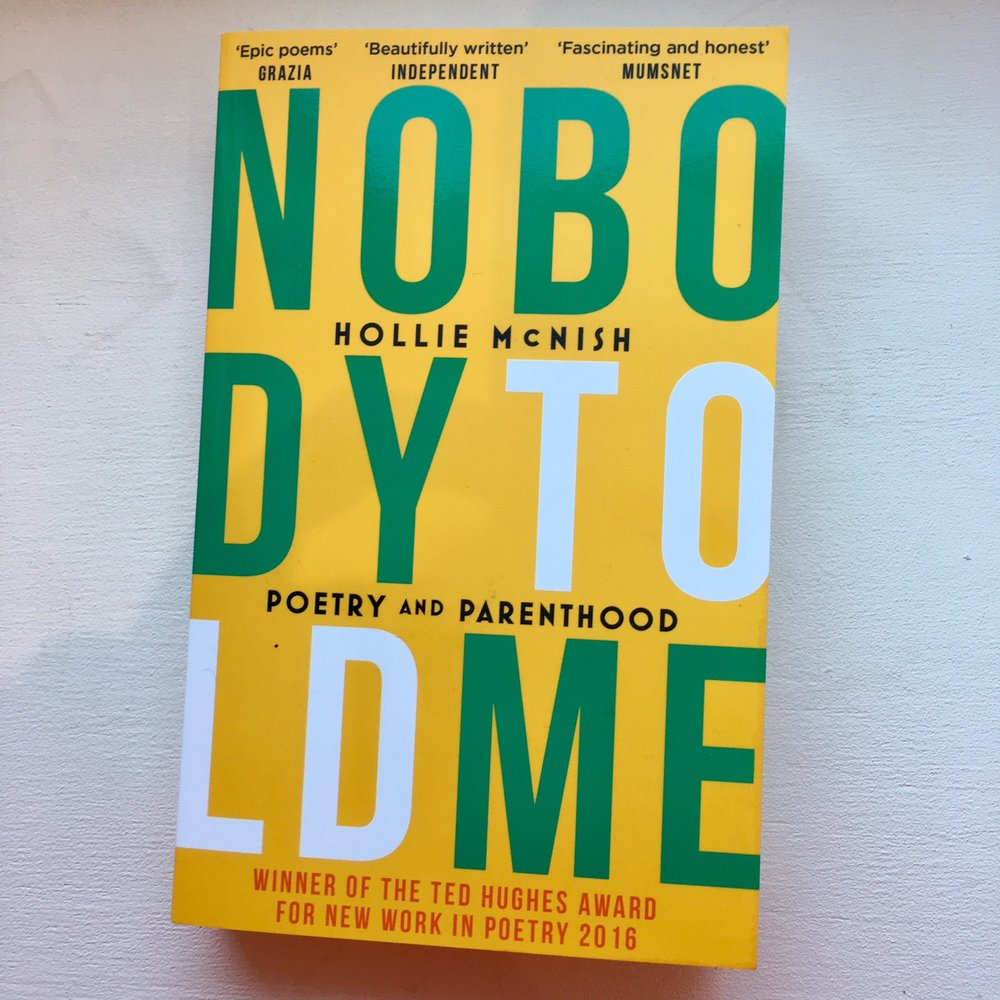 Nobody Told Me - Hollie McNish   Not really a therapy book as such, but a collection of thoughts and poems about pregnancy, motherhood, relationships, the NHS...   A wonderful read, and very refreshing.