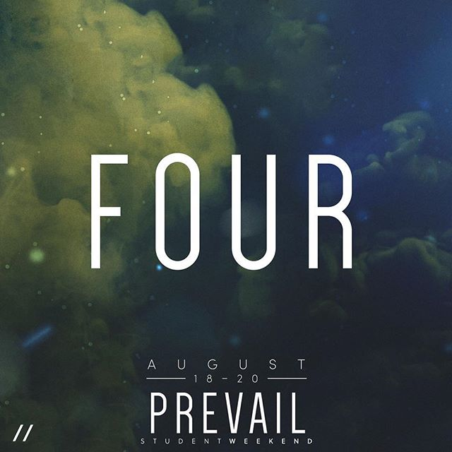We are only #FourDays out from #PrevailStudentWeekend! Make plans to attend today! #BeThere #FindYourPower #EMPR_YTH