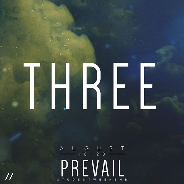 Only #ThreeDays until #PrevailStudentWeekend!! Will you be joining us?! #BeThere #FindYourPower #EMPR_YTH