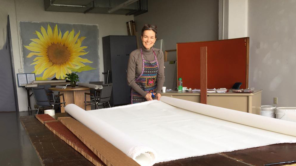 Dianna Derhak in her TriMain Studio in Buffalo New York