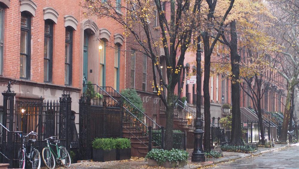 Tällä kadulla voisi olla mukava asua Greenwich villagessa