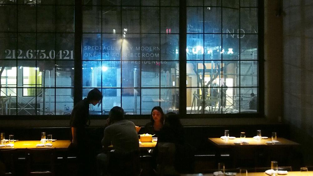 japanilainen brasserie EN West villagessa, erikoisuutena todella tuore tofu (uusi satsi valmistui tunnin välein)