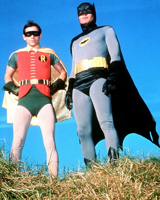 Adam West as Batman and Burt Ward as Dick Grayson, also known as his sidekick Robin (Photo: Channel 4)