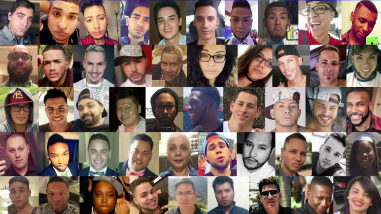 The 49 victims who were murdered in the attack. Source FOX