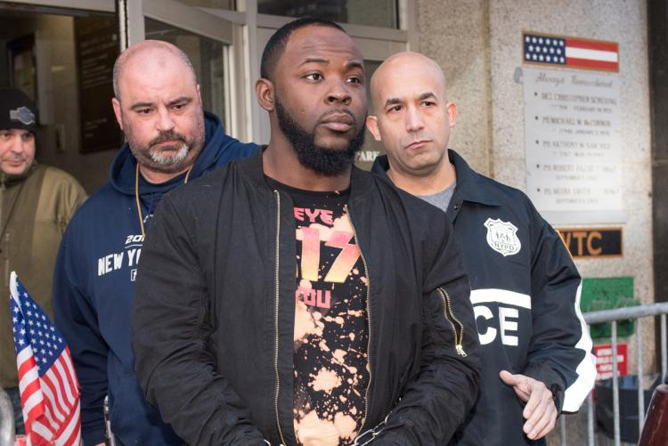 Daryl Campbell, aka Taxstone, is taken from Manhattan's 13th Precinct