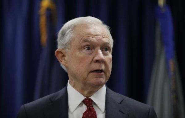 Attorney General Jeff Sessions speaks in Philadelphia, July 21, 2017. Photo Credit: AP