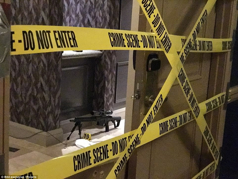 Leaked Photos Show Las Vegas Shooter's Body on Floor of Hotel Room
