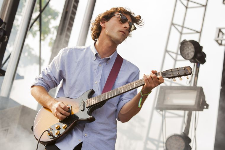 Matt Mondanile, formerly of Real Estate, playing the 2014 Pitchfork Music Festival in Chicago.  Barry Brecheisen/AP