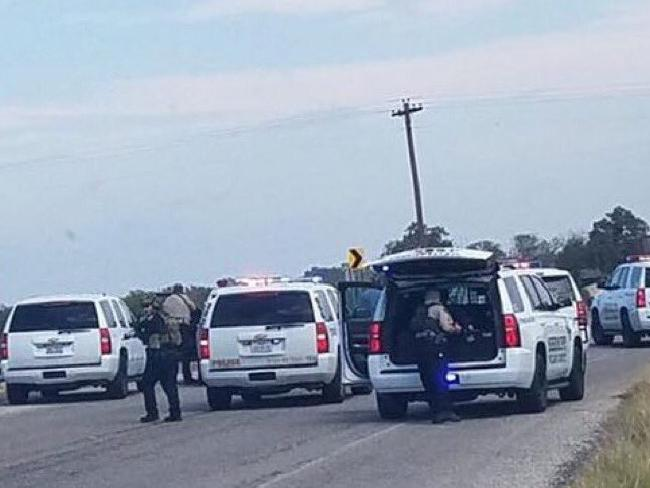 The scene near the church shooting. Source:Supplied