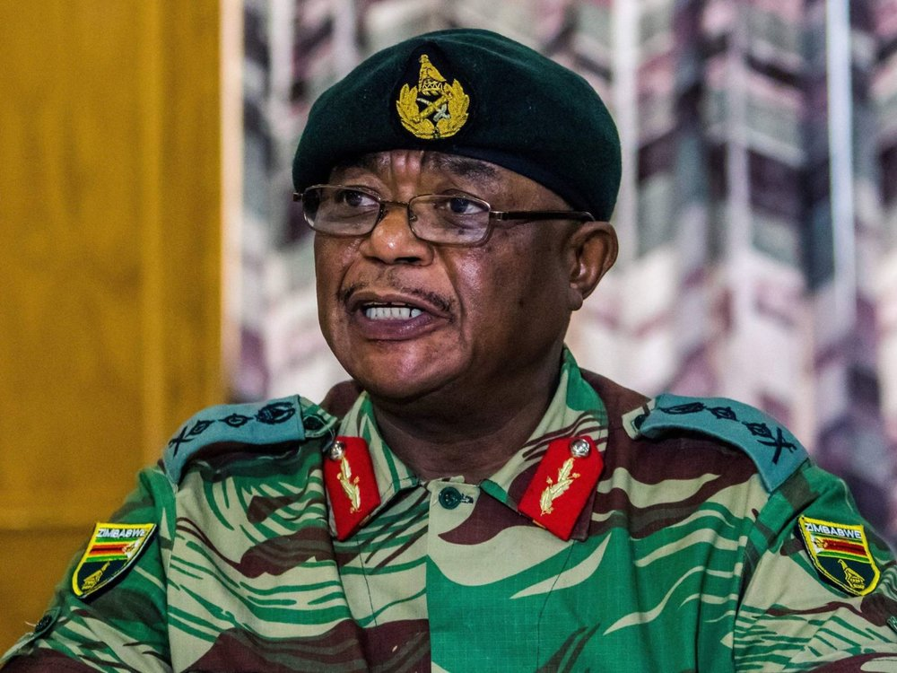 General Constantino Chiwenga, head of the armed forces in Zimbabwe, called for an end to the purge