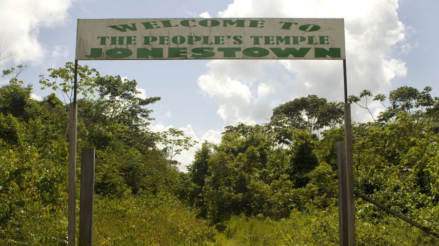 The entrance to the Jonestown commune in Guyana. / Reuters