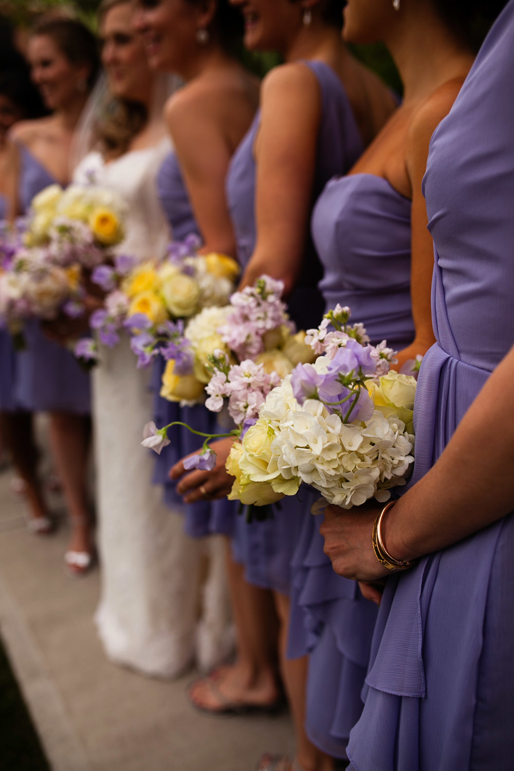 Bridesmaids. Fleurish the Flower Shop in Greenwich, CT with Ashley Douglass Events.