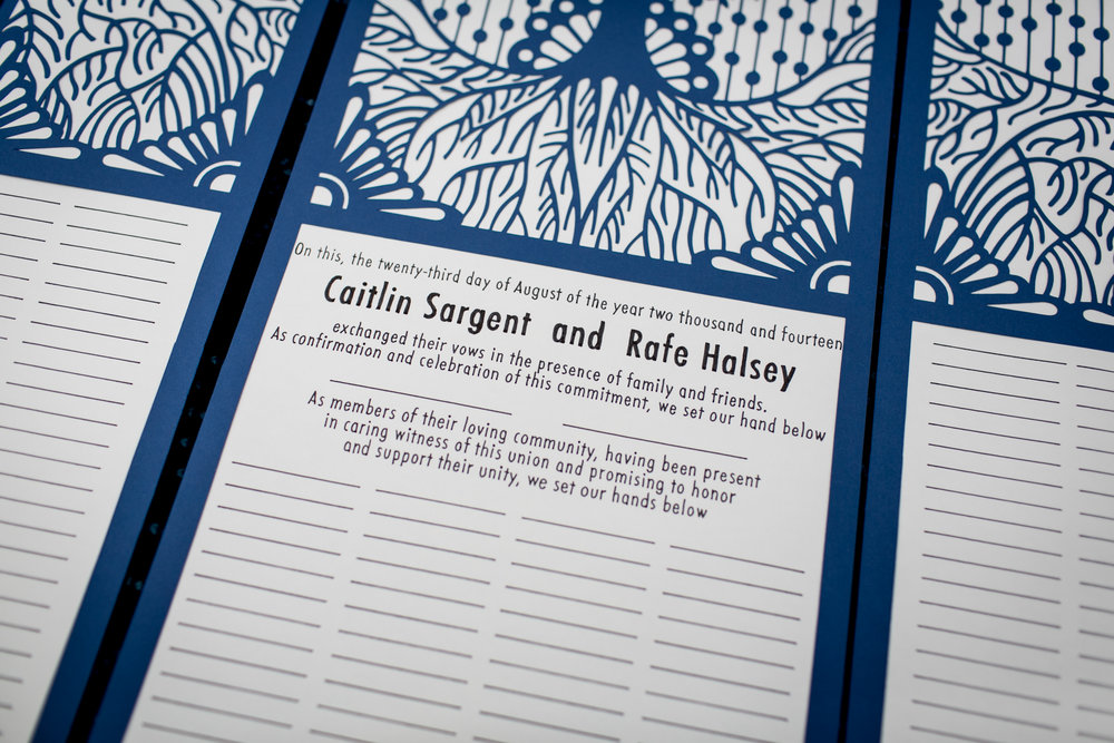 For all the guests to sign... CT Wedding in Old Lyme, CT.