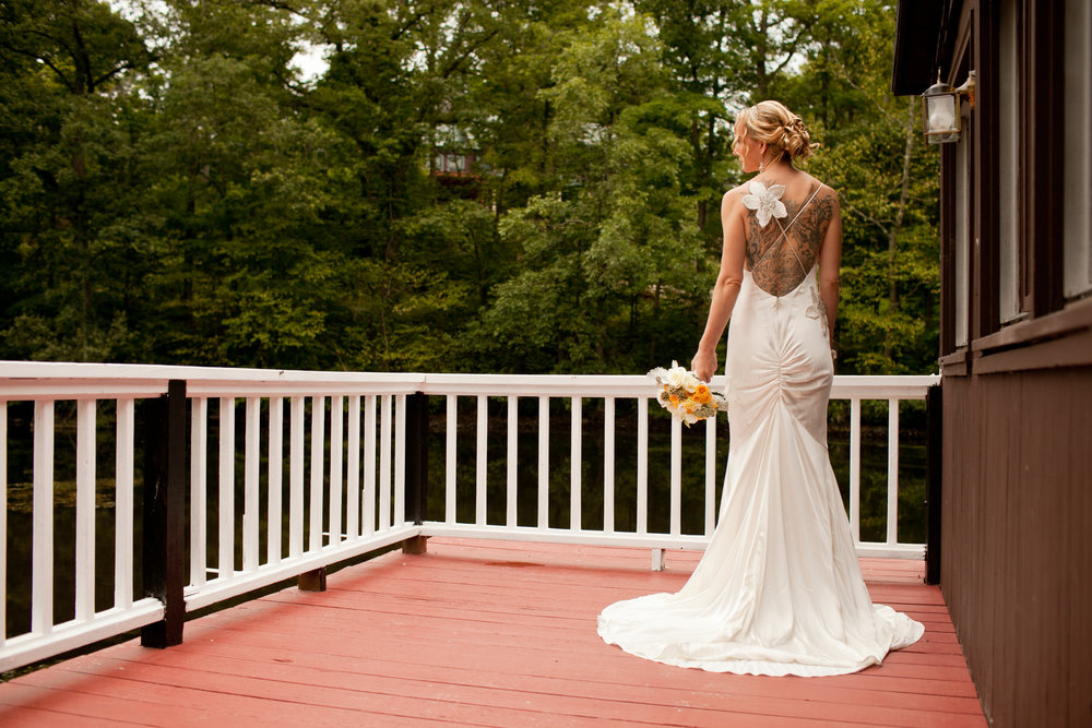 wedding dress with tatts