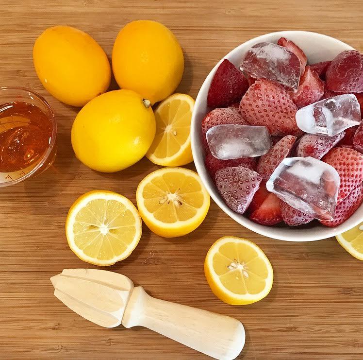 Frozen Strawberries, Meyer Lemons, and Organic Blue Agave
