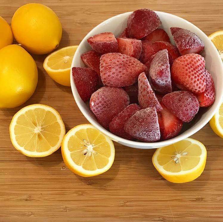 Frozen Strawberries and Meyer Lemons