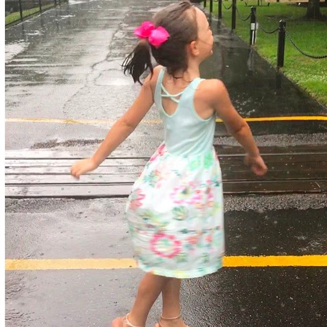 Dancing in the rain! (And comfy and  dry underneath thanks to our R. Harbor moisture-wicking undershorts!) #summerfun #summerkids #nobeachtoday #dancingintherain #nocares #rharborkids #madeinusa