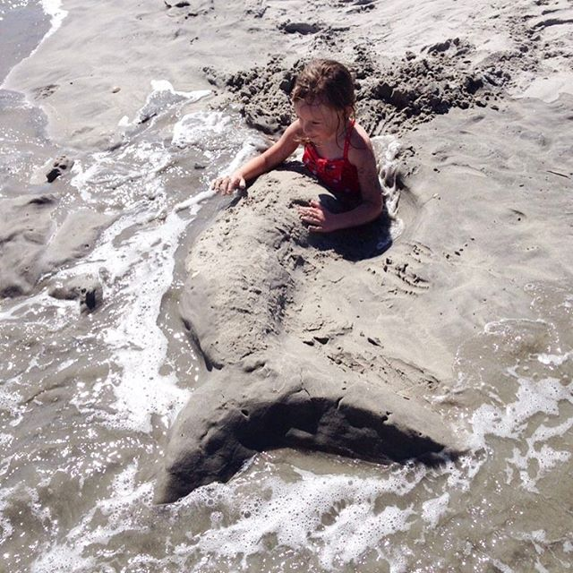 Mermaid Molly ❤ #summerfun #beach #mermaid #summerkids #summerdays #rharborkids
