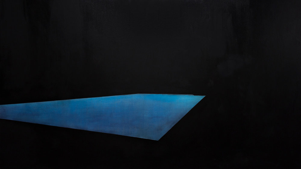 Pool 3  ,     2014, 54 x 96 in. acrylic and oil on canvas