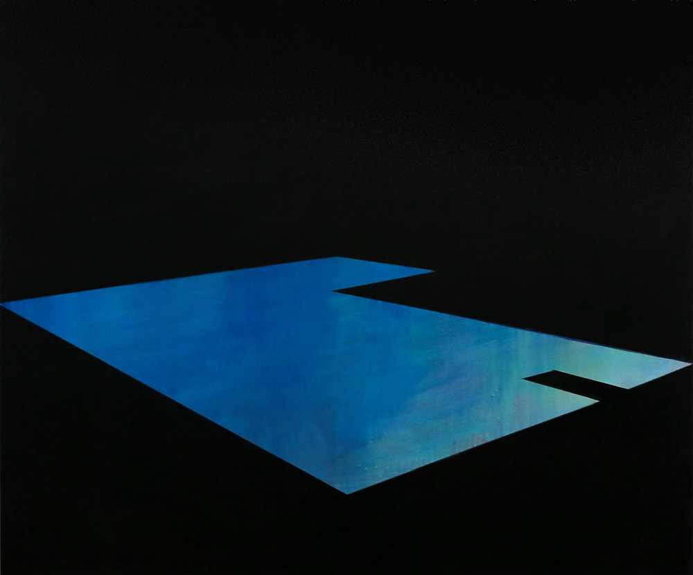 Pool 9  ,     2015, 50 x 60 in. acrylic and oil on canvas