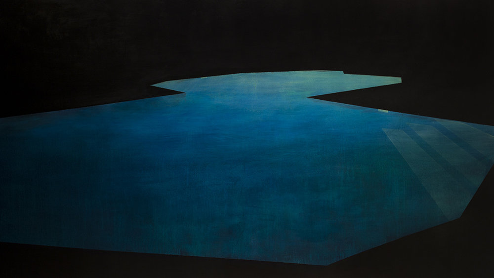 Pool 17  ,     2015, 84 x 149 in. acrylic and oil on canvas