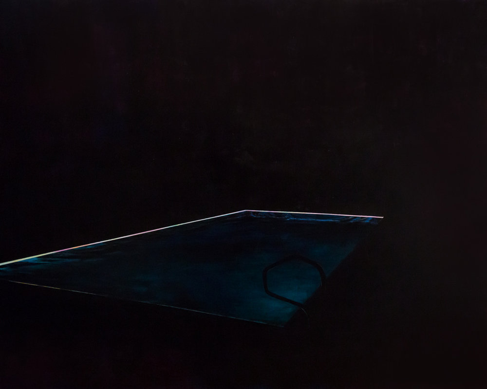 Pool 7  ,     2015, 84 x 105 in. acrylic and oil on canvas