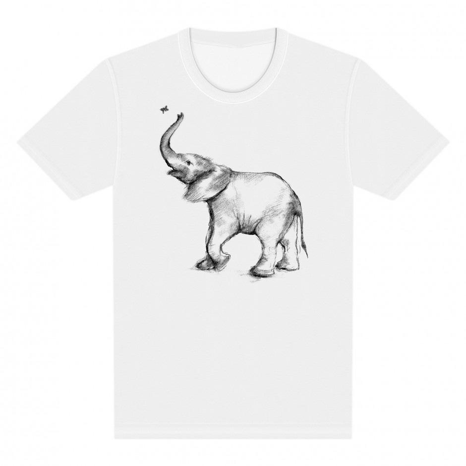 8489c3681 Daisy Murdoch Elephant Design Adult T-shirt — Shared Universe ...