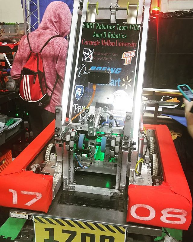 Ready for action!  Inspected ✔ Locked and Loaded ✔  #FIRST  #FIRSTRobotics  #MakeFIRSTLoud