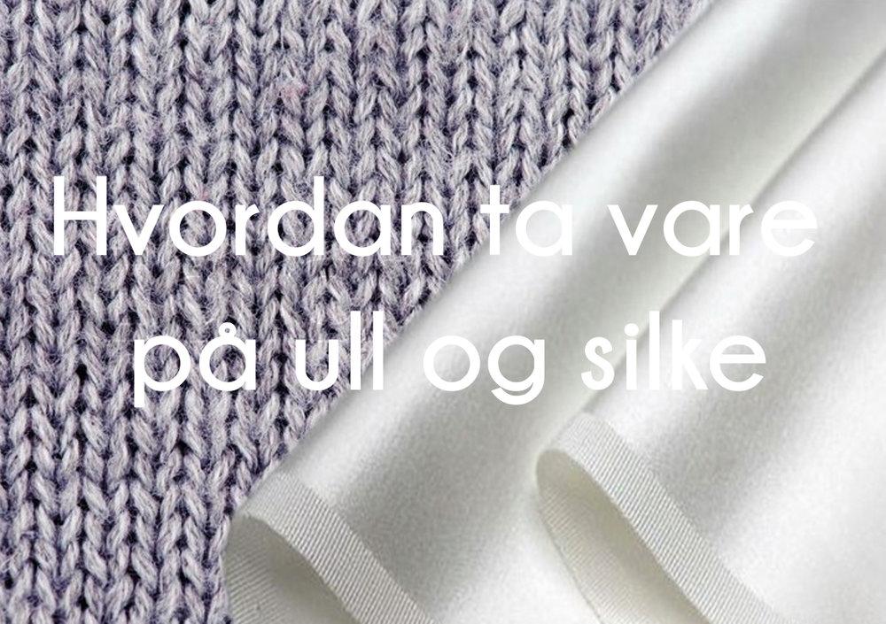 75d934f9 Hvordan ta vare på ull og silke — Underbart - Lingerie & Lifestyle