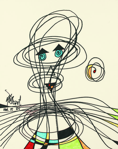 a cool picture doodled by Kurt Vonnegut