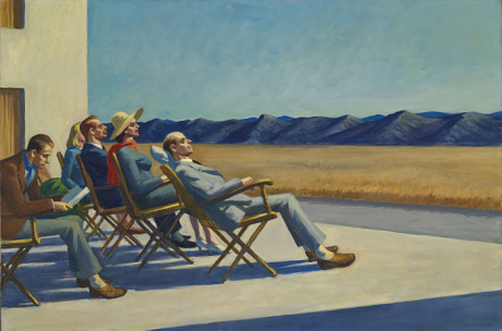 "The original Crusty Alt's. ""People in the Sun"" by Edward Hopper"