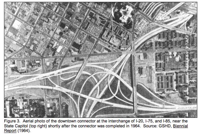 Picture taken in 1964: http://www.dot.ga.gov/AboutGeorgia/CentennialHome/Documents/Historical%20Documents/HistoricalContextof%20GeorgiaInterstates.pdf