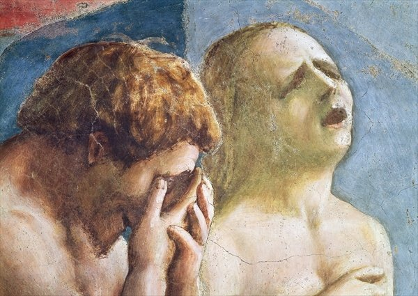 """Part of """"The Expulsion of Adam and Eve from Paradise"""""""