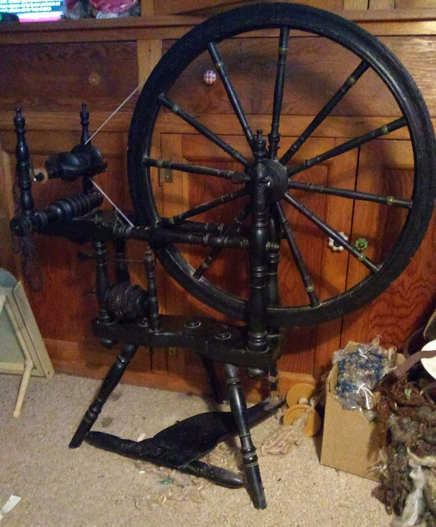 Antique Norwegian Spinning Wheel!