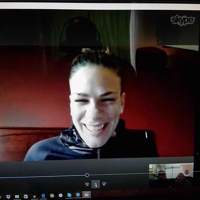 New episode is up with the #wbc #wba World Featherweight Champion @jelenaboxing go to www.tsolpodcast.com for links. #Champ