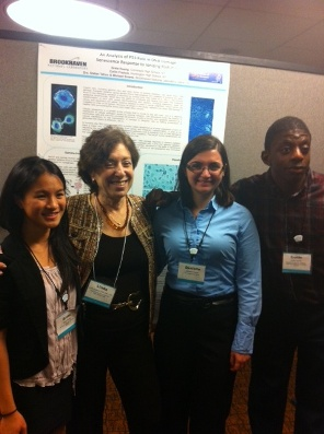 (left to right) Greta Huang, Dr. Birnbuam, Danielle Ferstler, Collin Francis
