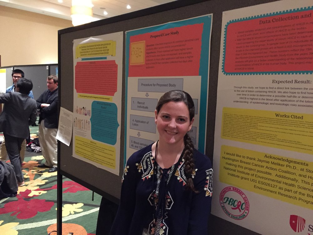Erin with her poster at NIEHS FEST