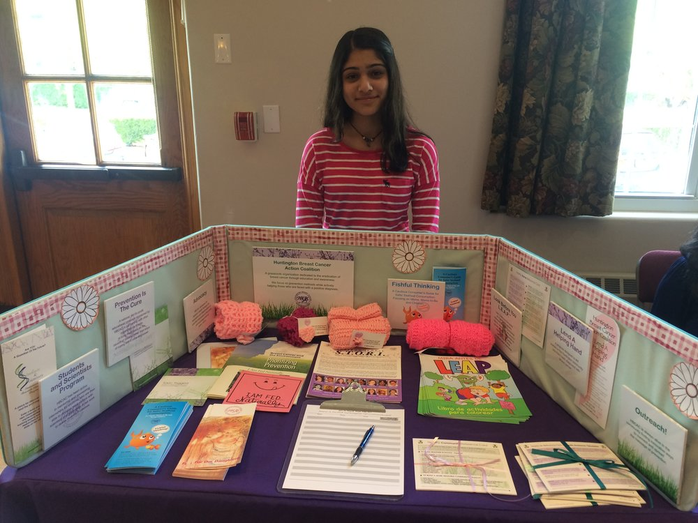 Subhana at an outreach at the local library teaching community members about prevention
