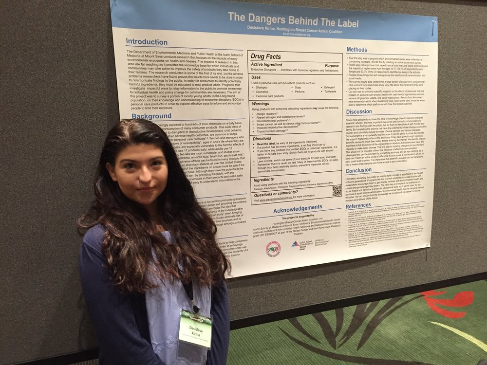 Desi with her poster at NIEHS FEST
